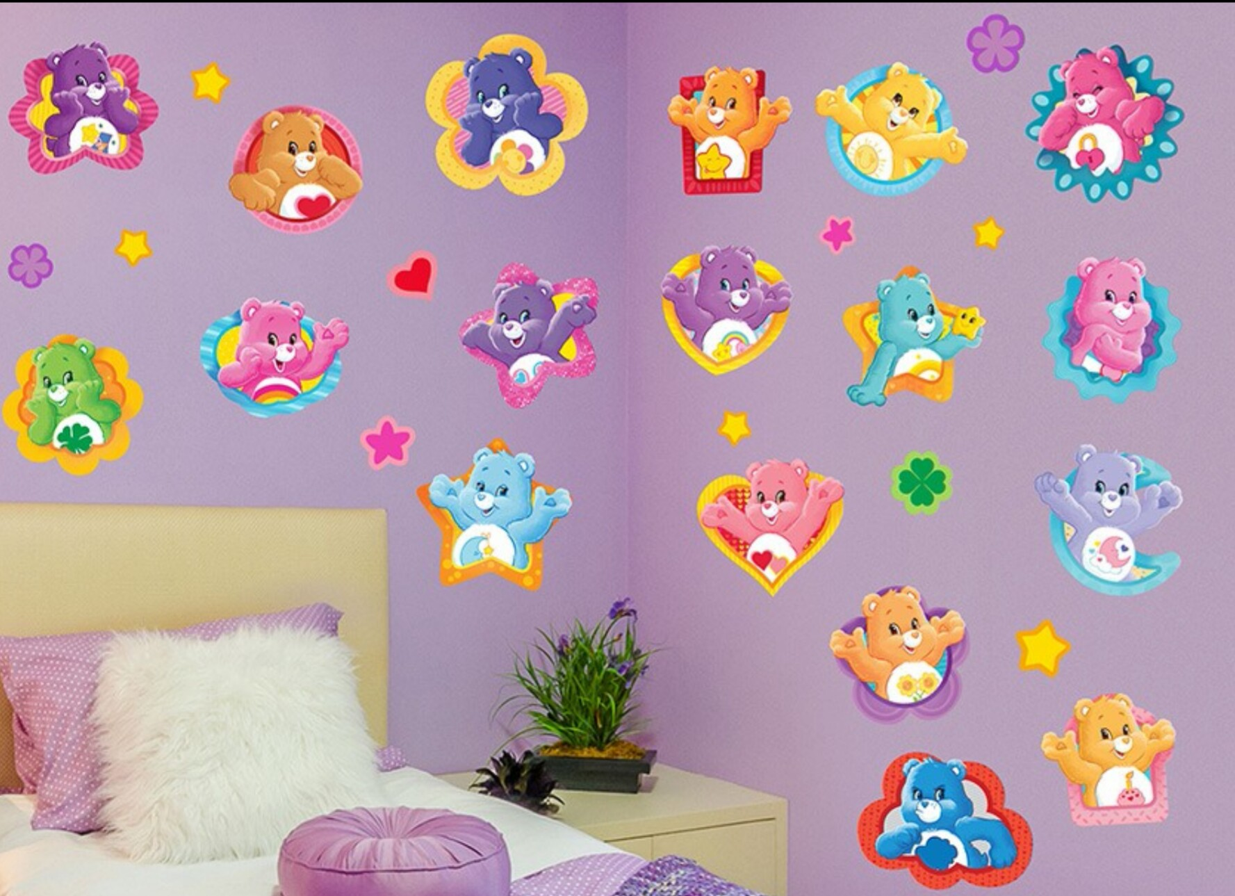 Carebears wall decals by wall alternative mindz for Care bears wall mural